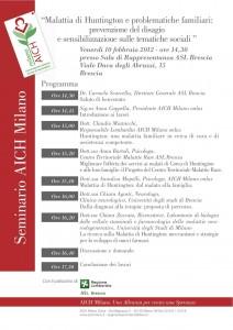 Programma Convegno AICH
